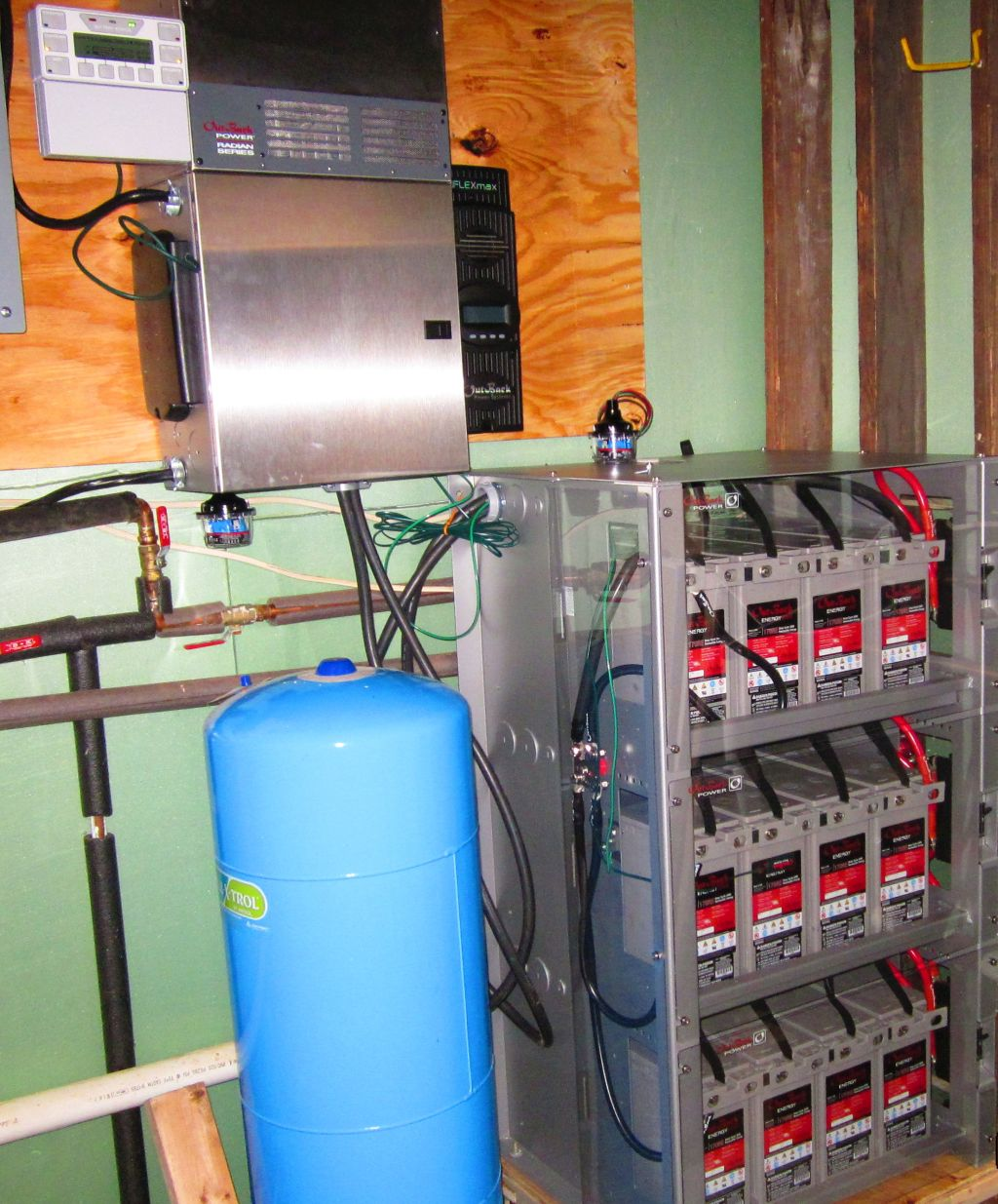Outback Radian Inverter and Outback Batteries