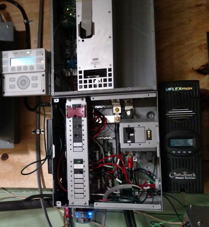 Outback Radian Inverter and Load Center